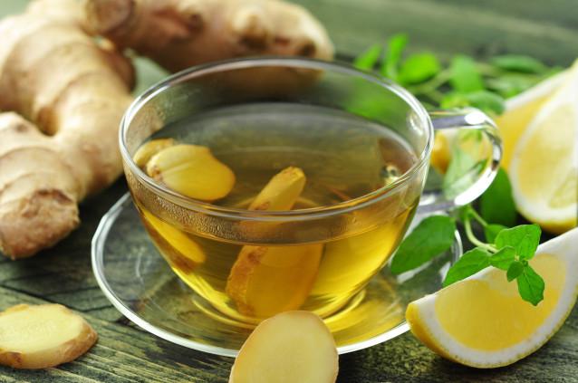 Имбирь при простуде: рецепт с чайными листьями