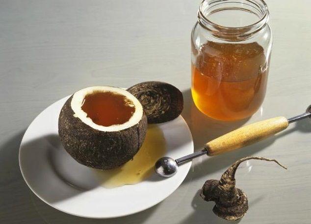 мед и редька