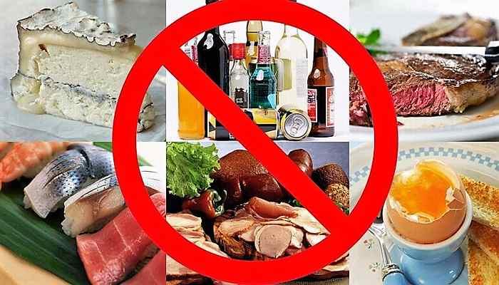 запрет на соленые и вредные продукты