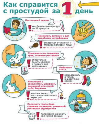 Как справится с простудой за 1 день