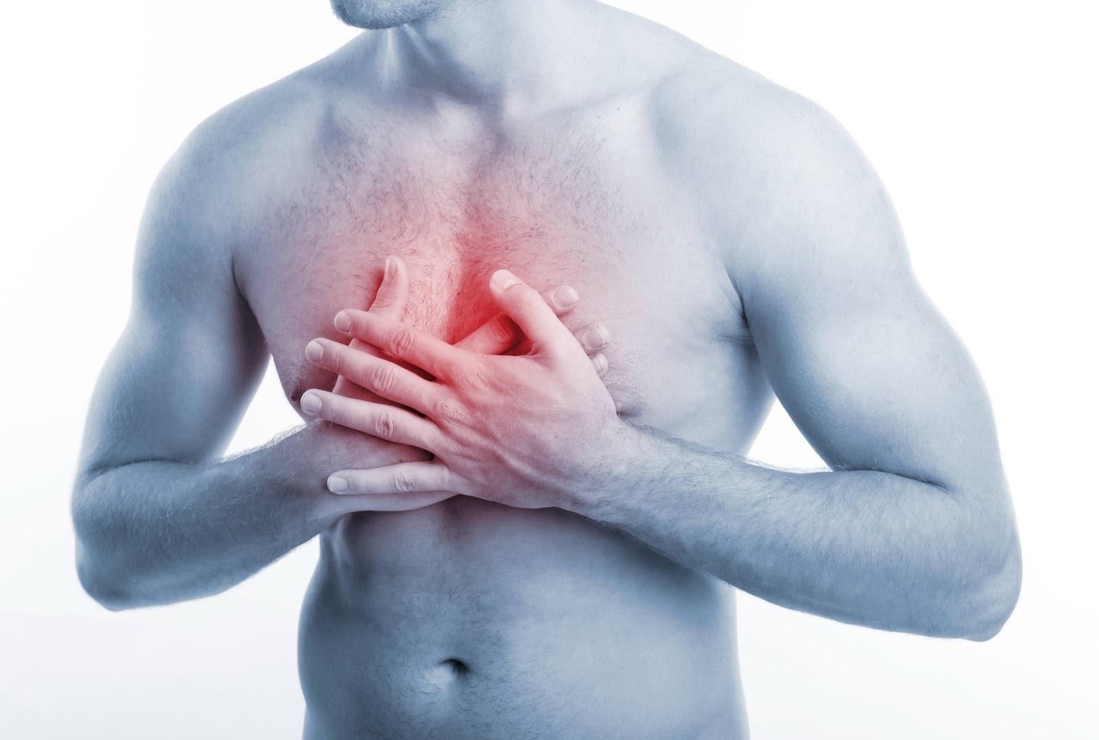 сильная боль в области грудины