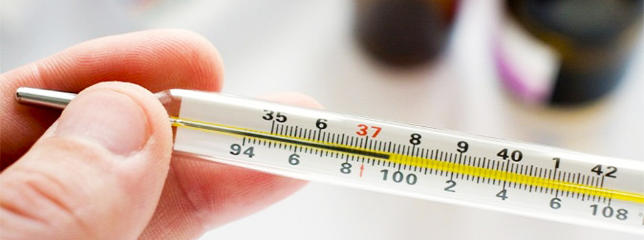 высокая температура на градуснике
