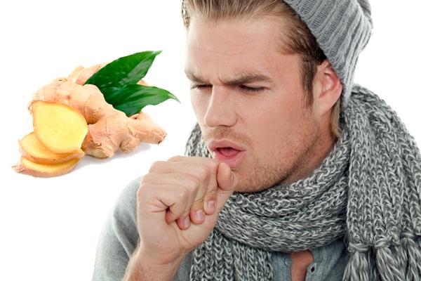 имбирь и кашляющий мужчина