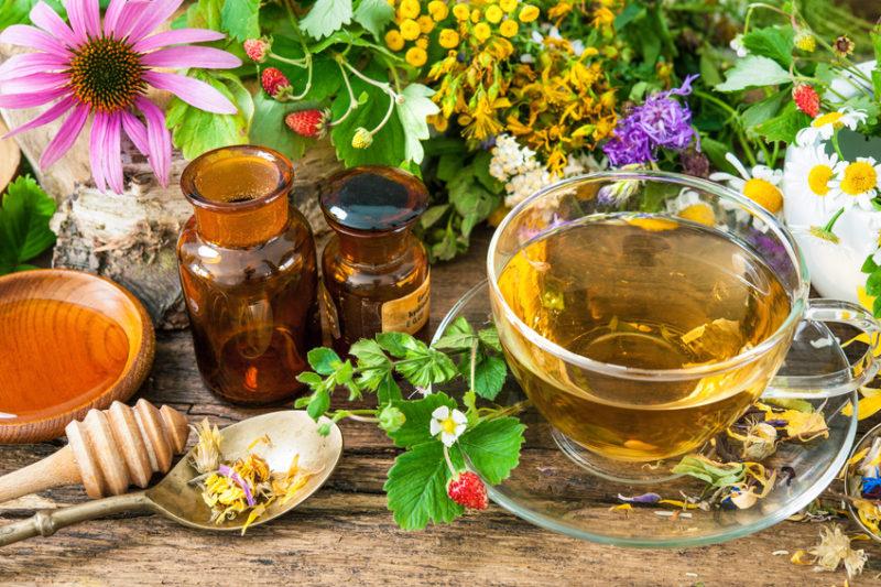 чай, травы и масла