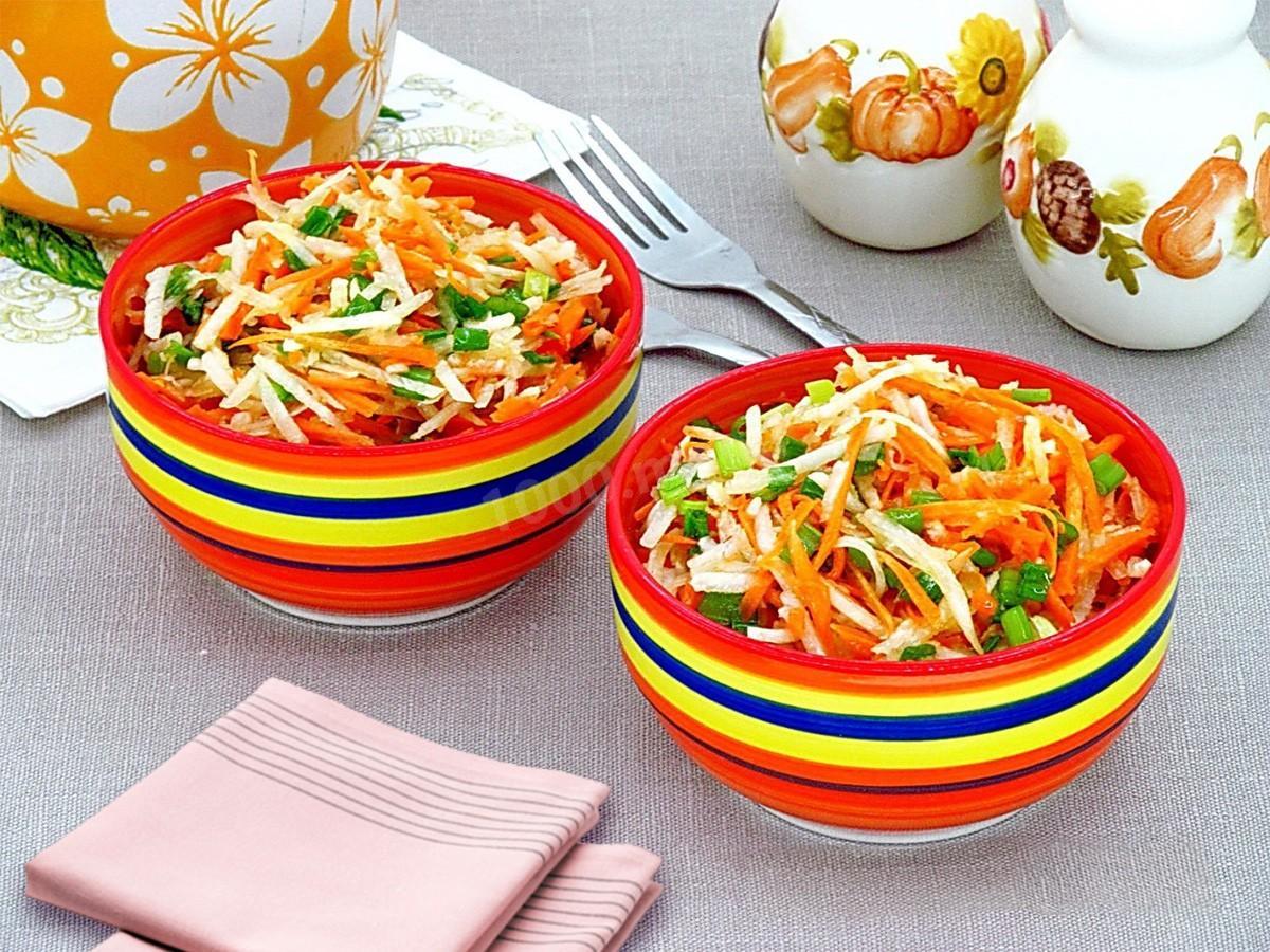салат из черной редьки и моркови